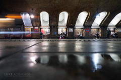 Reflections at Baker Street Station (Luke Agbaimoni (last rounds)) Tags: train underground londonunderground londontube bakerstreet streetphotography street reflection lighttrails