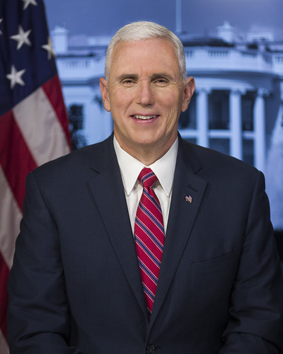 From flickr.com: Official portrait, Vice President Mike Pence {MID-303500}