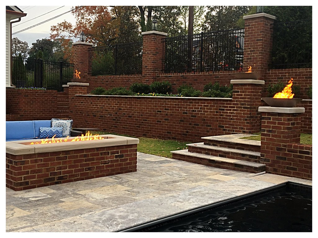 Copper Fire Pits and a Custom Linear Fire Pit. Chattanooga, Tn.