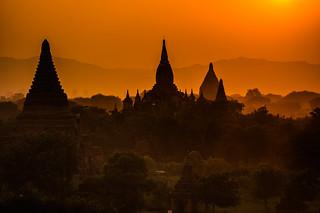 Sunset on Old Bagan