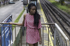 Toulla by @LAPOETTO (lapoetto) Tags: street portrait woman beauty tren outdoors buenosaires dress hairstyle blackwoman frenchwoman