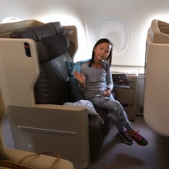 You think Sally will be comfortable on this 12 hour flight? Abroad Singapore Airline's Airbus A380.