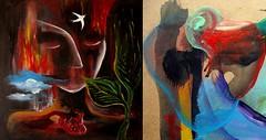 ( Latidos de algunas de estas horas de la vida ) (Felipe Smides) Tags: naturaleza painting paint pájaros cuerpos fuego corazón pintura pinturas pájaro smides felipesmides