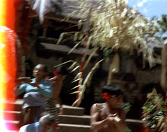 25-798 (ndpa / s. lundeen, archivist) Tags: costumes people bali color men film festival stairs 35mm indonesia temple dance costume blurry women dancers dancing traditional nick steps performance ceremony culture outoffocus lightleak celebration 25 southpacific sword kris ritual dagger tradition 1970s drama hindu performers performer 1972 indonesian oldwomen partial keris barong balinese dewolf oceania pacificislands youngmen nickdewolf beginningoftheroll photographbynickdewolf dancedrama beginningofroll pacificislandculture reel25