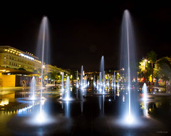 L'autre miroir d'eau - Nice, place Massena (Erminig Gwenn) Tags: city longexposure light urban france water fountain yellow by night jaune alpes canon reflections eos lights nice eau stream riviera lumière jets jet côte promenade cote provence miroir 06 fontaine nuit reflets nocturne ville miror maritimes pca massena filé urbaine dazur placemassena paillon 0695 jetsdeau miroirdeau tempsdepause watermiror longtempsdepause canoneos6d promenadedupaillon promenadepaillon