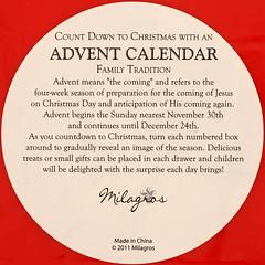 ADVENT CALENDAR (Leo Reynolds) Tags: advent calendar squaredcircle xleol30x sqset117