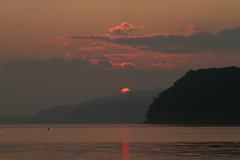 Sunset at Lake Yamanaka (yamanaito) Tags: flickr