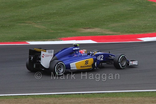 Felipe Nasr in Free Practice 3 for the 2015 British Grand Prix at Silverstone