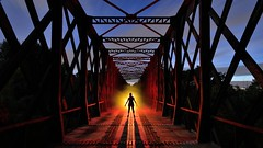 Ohdrey Pom's (palateth) Tags: bridge moon lightpainting france backlight night belgium belgique belgie bluehour ig 84 vaucluse lightart masslighter ohdreypoms graiguepadawan