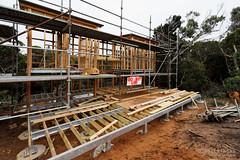 20150718-10-Lunchtime Creek Hut construction on Three Capes Track (Roger T Wong) Tags: winter building trek outdoors nationalpark construction walk australia hike huts tasmania np bushwalk tramp 2015 tasmanpeninsula capepillar sony1635 rogertwong sel1635z sonya7ii sonyilce7m2 sonyalpha7ii sonyfe1635mmf4zaosscarlzeissvariotessart