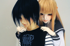 ** (Jane Sh) Tags: anime art love girl studio couple lan online sword bjd volks abjd angell hijikata asuna toshizo kirito bjdboy bjdcouple