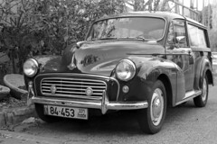 Morris Minor Traveller (Ilya.Bur) Tags: classic film car 50mm nikon woody traveller vehicle fujifilm morris fe nikkor f18 minor acros ei200 caffenolcl