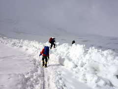 """Crossing new avalanche debris • <a style=""""font-size:0.8em;"""" href=""""http://www.flickr.com/photos/41849531@N04/19829896264/"""" target=""""_blank"""">View on Flickr</a>"""