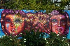 Art in the Park (Eddie C3) Tags: newyorkcity nycparks streetart easthoustonstreet firststreetgreen colorful riodejaneiro streetscenes panmelacastro firststreetgreenartpark