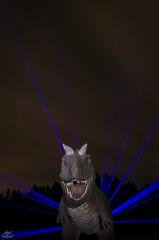 Jurassic Lights (DKL Series, 2015) (Athalfred DKL) Tags: childrenofdarklight children darklight dkl lightpainting light painting frodo kolo asturias frodoalvarez pintura de luz herramientaslightpainting herramientas lp tools lptools neonflexible dinosaur dinosaurio dino muja museo jurásico colunga art lightart larga exposición long exposure nocturna nocturnal carnotaurus