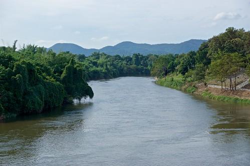 River Kwae Noi passing Prasat Mueang Singh historical park in Kanchanaburi province, Thailand