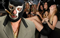 Doctor Porkchop rings in the New Year in the Golden Child's Limousine in Times Square NYC (Studio d'Xavier) Tags: werehere lastnightsparty doctorporkchop drporkchop luchalibre luchador happynewyear timessquare 365 january12017 1365 limousine party 365the2017edition 3652017 day1365 1jan17