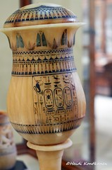 Vase with Names of Tutankhamun and Ankhesenamun (konde) Tags: alabaster vase tutankhamun ankhesenamun cartouche 18thdynasty newkingdom kv62 uraei redcrown ancient treasure art hieroglyphs