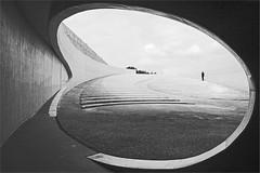 from here to eternity.. (leuntje) Tags: vroenhoven riemst belgique belgië architecture neypartnersarchitects bw albertkanaal debrugvanvroenhoven belgium