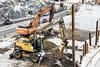 Tietyö / Roadwork (anttiyr) Tags: tietyö tietyömaa työ työmaa rakennustyömaa tietyöt rakennustyöt kaivinkone kaivinkoneet daewoo volvo raudoittaminen työkoneet työkone tieturvallisuus rakentaminen tieverkko liittymän liittymä tampereella tampere tampereen rantatunneli rantatunnelit tien kunnostus korjaaminen työssä töissä työt työllisyys infra talous suomessa talvella lumessa tammikuussa tiet tie autoilu väylä     roadway construction intersection infinland intampere finnish winter snow road roads finland