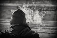Meditation in a sunny corner (savolio70) Tags: smoke fumo sigaro street streetphotography meditation savolio stefanoavolio meditazione cigar bianconero bw blackandwhite blackwhite monocrono sunny