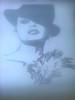 Dama con sombrero ... terminado (elartistadelamaquinadeescribir) Tags: dama sombrero punto de cruz maquinadeescribir manualidad art typer writer