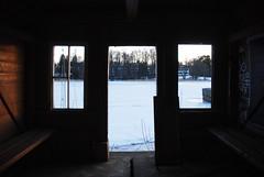 (Sameli) Tags: old abandoned building swimming hut sea winter ice snow cold ue urbex helsinki suomi finland window windows door dark darkness light
