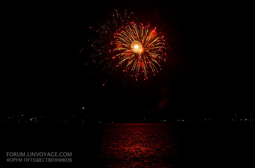 New Year fireworks at Phi Phi island