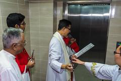 Archbishop bless the new lift (Johnragai-Moment Catcher) Tags: people photography stignatiuschurch sicphotographers archbishopjulianleow blessing johnragai johnragaiphotos