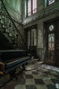 PIANO. (Welcome in a wild world) Tags: urbex piano urbanexploration exploration rich castle chateau france epic mythique incontournable door stair entrance deserted disused decay abandon abandoned vitrail window