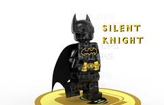 Silent Knight (CyclopsBricks) Tags: lego 3d molded injection pad printed cyclopsbricks batman dc superhero comics comic book movie mcu myles dupont mold cape custom minifig minifigure