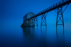 event horizon (Explored) (shutterbug_uk2012) Tags: uk united kingdom selsey lifeboat station blue hour long exposure seascape colour smooth reflection water coastal south nikon d810 lee hitech filters dusk