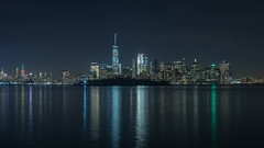 Nachtaufnahme Skyline New York HDR (SebastianGeisel) Tags: hdr newyork architektur reisen gebäude nachtaufnahme stadtansicht nacht stadt architecture jerseycity newjersey usa us