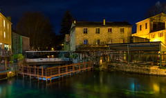 Fontaine de Vaucluse en hiver (Romain VENOT) Tags: rivieres rivers ecluse fontainedevaucluse provence d5300 nuit night longexposure sorgues water waterscape