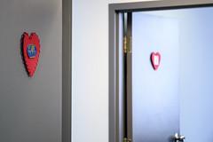 Heart break (caribb) Tags: laval quebec québec canada valentines heart hearts valentinehearts decorations doors entrance entrances exit exits red colour color