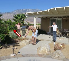 July 4, 2015 (14/365+4) (gaymay) Tags: california family gay portrait dog love happy fire desert fireworks palmsprings kitty match rocket triad