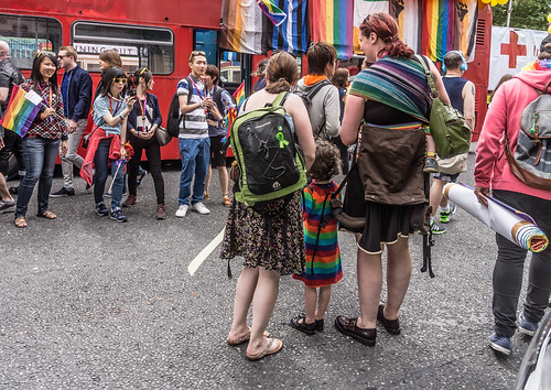 DUBLIN 2015 LGBTQ PRIDE FESTIVAL [PREPARING FOR THE PARADE] REF-106227