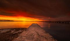 Como Fire Sky (douglasjines) Tags: longexposure sunset storm como water clouds river landscape swan australia perth