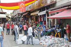 Endless Markets (caribb) Tags: street city summer vacation people urban retail turkey shopping trkiye transport markets istanbul goods stores crowds stalls shoppers marmara sellers constantinople 2015 merket lygos