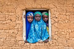 Schoolgirls (Irene Becker) Tags: africa portrait girl village islam portraiture westafrica nigeria kaduna blackafrica kadunastate arewa northernnigeria irenebecker nigerianimages nigerianphotos imagesofnigeria northnigeria hausaland