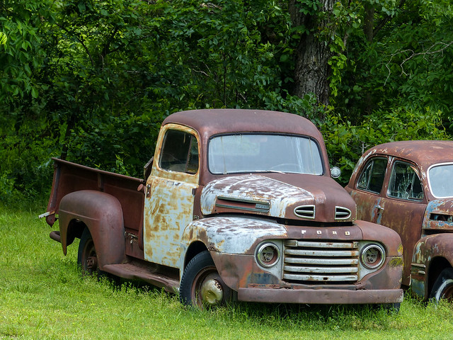 abandoned route66 junk rust rusty missouri crusty 1948fordpickuptruck