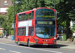 GAL WVL280 - LX59CYV - NEW CROSS GATE - TUE 21ST JULY 2015 (Bexleybus) Tags: new london volvo gate cross 21 route gemini tfl goahead wrightbus wvl280 lx59cyv
