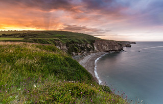 Green Cliffs Sunset