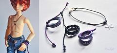 Star Boy MSD set (Bazikotek Isia) Tags: boy set star necklace doll handmade violet jewelry galaxy bracelet bjd etsy dollfie luts balljointeddoll bazikotek
