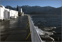 left turn ferry deck (tesseract33) Tags: tesseract33 nikon light world art travel outside colour peterlang nikond750 peterlangphotographynet squamishphotographer boat boats ferry bcferries howesound