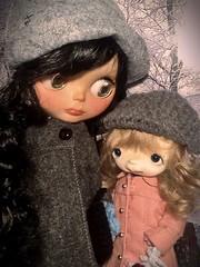 December Blythe-a-Day#27: Outdoor Fun: Jessamyn & Her Daughter Cilla