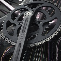 Black anodized Rene Herse cranks and chain rings. They got their first dose of use this past mild weather weekend. We're looking at another 50° day tomorrow. Weirdest January ever. #renehersecrank #chapmancycles (Chapman Cycles) Tags: renehersecrank chapmancycles