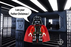 He's coming !!! (Greg 50) Tags: darthvader darkvador starwars lego santa santaclaus deathstar