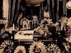 In Repose (~ Lone Wadi ~) Tags: death funeral coffin casket funeralhome flowers dead corpse deceased retro 1930s unknown postmortem