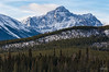 Black Rock (Quincey Deters) Tags: â©quinceydeters allrightsreserved canada outdoor nature 2014 january closeup colourimage horizontal lines layers landscape mountain snow rock forest tree northamerica alberta jaspernationalpark jasper canadianrockymountains winter day cloud rochenoire blackrock